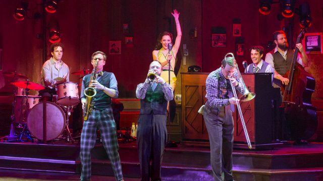 The cast of BANDSTAND on Broadway