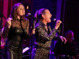 Blair Goldberg and Adina Alexander performing at 54 Below