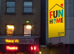 Young Vic showing 'Fun Home' mockup